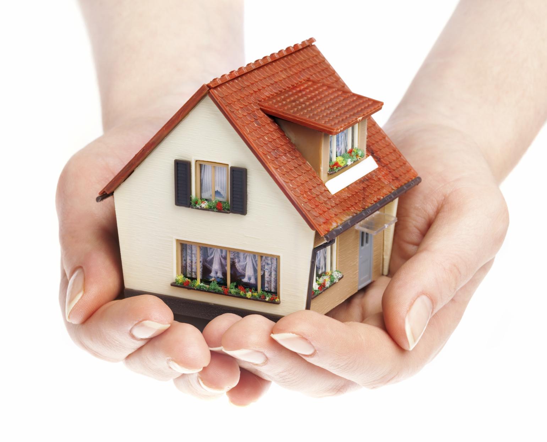 Obraz domu na dłoni