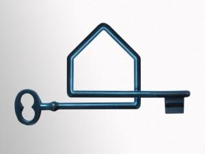 Klucz w kształcie domu